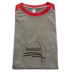 Tee-Shirt Tenkara Pyrénées Gris/Rouge